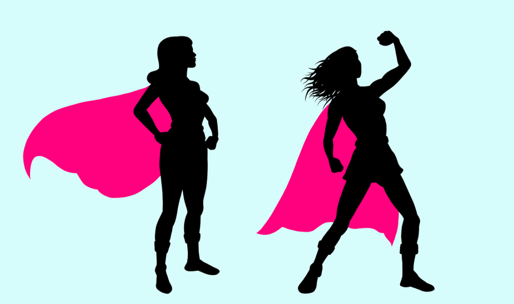 #starkeFrauen Superheldin starke Frauen Vorbilder Heldinnen Blogparade